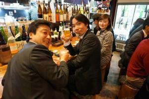 懇親会は立川の居酒屋「青海」 MCS代表 舛田さんのグループ