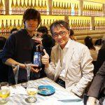 お洒落なグラスで日本酒♪