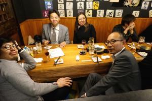 懇親会は立川の居酒屋「青海」 講師の内山先生を囲んで