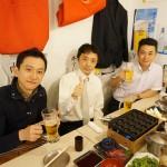 飲み会から参加の津田社長