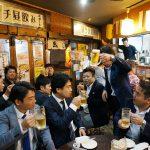 舛田代表の挨拶で乾杯!